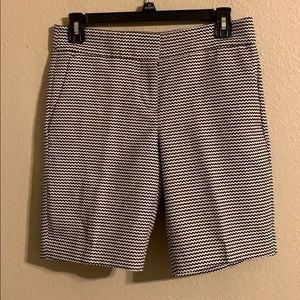 Ann Taylor black and white shorts size 2